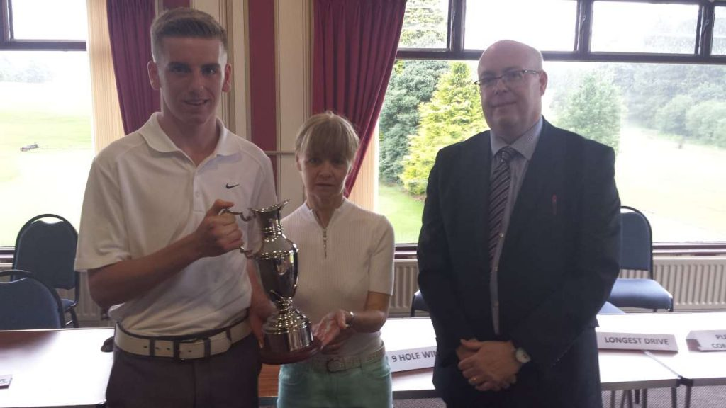 Sean McGowan winner of the first Conal McCrory Memorial Trophy