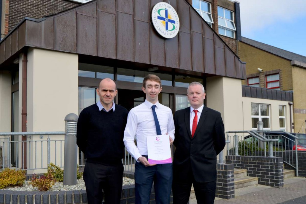 Ryan Mullan who achieved 2nd place in Northern Ireland with his Mathematics Teachers