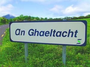 An Ghaeltacht sign image for Irish page on website