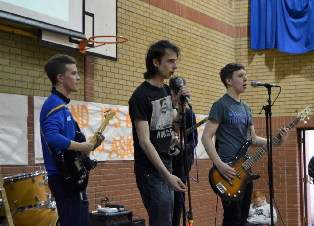 A-Level musicians perform to the crowd