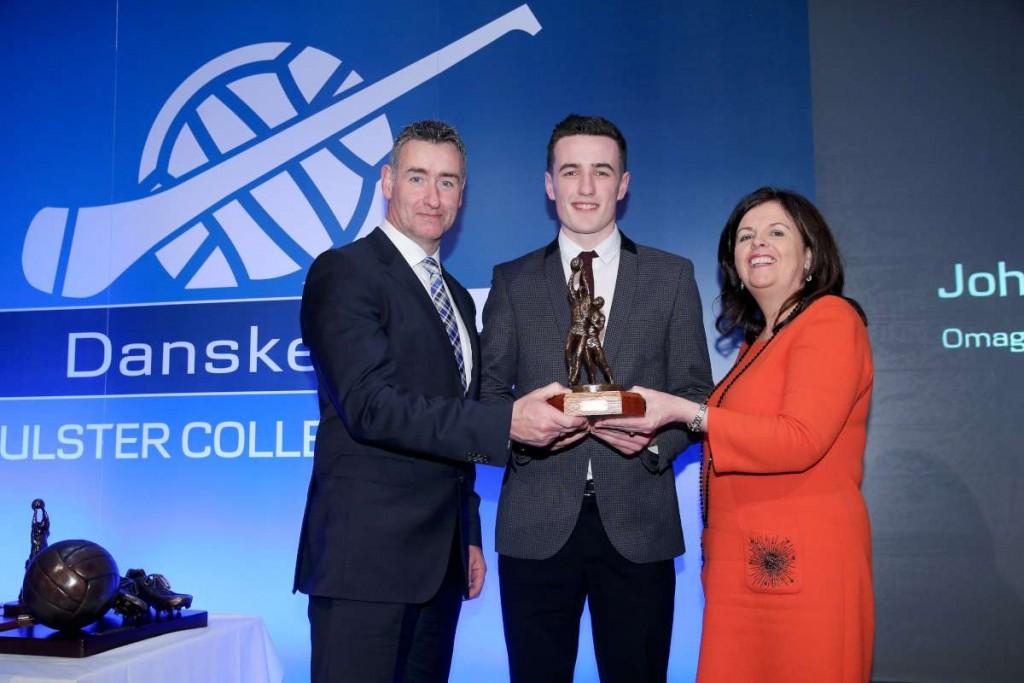 John Harkin receiving his award
