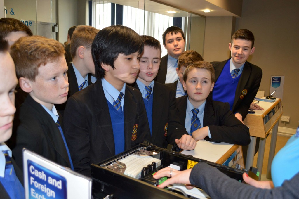 Year 9 visit the Bank