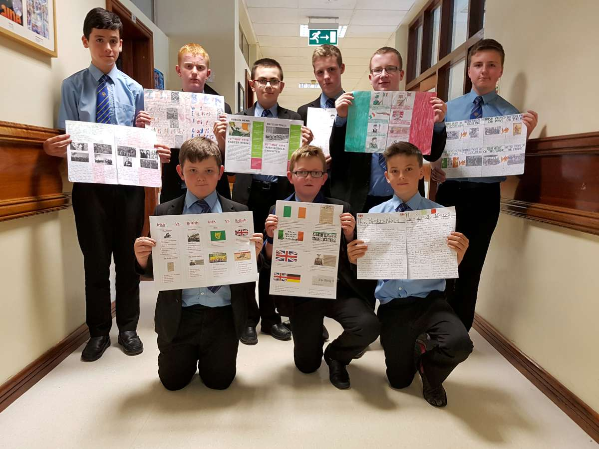 9E Entries: Back row - Mark McQuaid, Michael Stolberger, Malachy McCarney, Aiden Winters, Daniel Kelly, Eoin Forrest. Front row - Sean McRory, Malachy McDermott, Oran McElroy