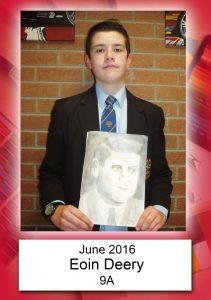 Eoin Deery 9A June