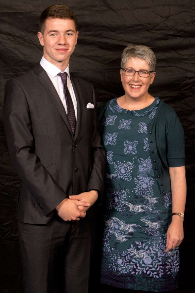 Paul is pictured with his Biology teacher Mrs L Teague